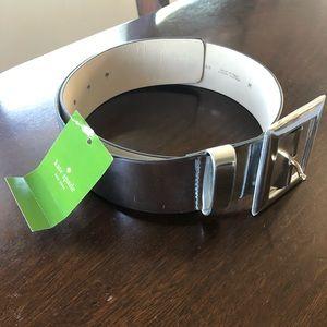 New Kate Spade silver wide belt
